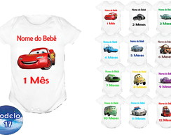 Kit 12 Body Mesversario Carros disney Bori, Bodie