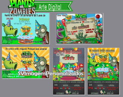 Arte Digital Plants vs Zombie