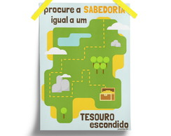 Mapa do Tesouro - poster cristão digital