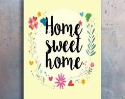 Placa Decorativa - Home Sweet Home