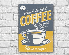 Placa Decorativa - Coffee
