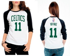 Camiseta Raglan 3/4 Boston Celtics Irving 11