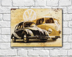 Placa Decorativa - Fusca