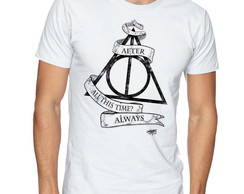 Camiseta Camisa Masculina Harry Potter Reliquias da morte