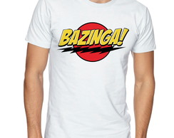 Camiseta masculina bazinga the big bang theory serie