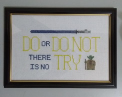 Quadro bordado Star Wars - Do or do not. There is no try