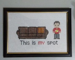 Quadro bordado The Big Bang Theory - This is my spot