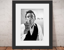 Quadro Johnny Cash Folk 46x56cm Paspatur + Anti-reflexo C70