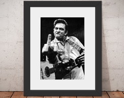 Quadro Johnny Cash Folk 46x56cm Paspatur + Anti-reflexo C72