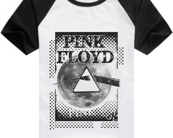 Camisa Raglan Bandas Rock - Pink Floyd Dark Side of the Moon