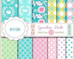 #1139- Kit Papel Digital GARDEN PATH