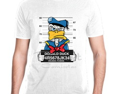 Camiseta Personagem Disney Pato Donald Prisioneiro