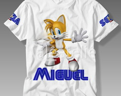 Camiseta Sonic Infantil Tails Amy Rose Shadow Knuckles Mario