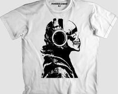 ... Camisa CAVEIRA DE HEADPHONE 38e581b17346d