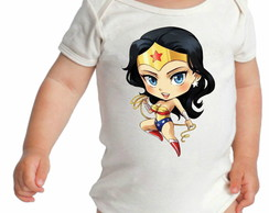 BODY BODIE BORE INFANTIL MULHER MARAVILHA BABY BEBE