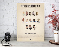 Placa Quadro Decorativos - Prison Break