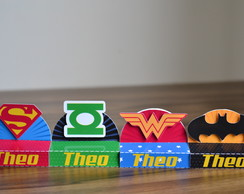 Porta Chocolate Duplo Super Heroes