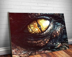 Placa Decorativa Hobbit Smaug 3-30x20cm