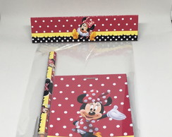 Kit Bloquinho + Caneta - Minnie Mickey