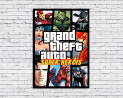 Poster Digital GTA Super Heróis (Arquivo A3 para download)
