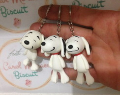 Chaveiro Snoopy em biscuit lembrancinha
