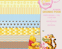 Kit Digital Personagens - Ursinho Pooh