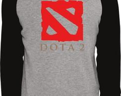 ... Camiseta Raglan Manga Longa Dota 2 194976e538ed5