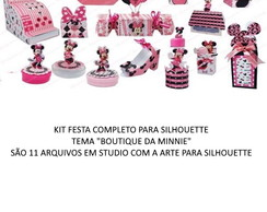 Arquivos SILHOUETTE - Kit Festa Boutique da Minnie