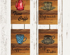 Kit Posters Decorativos - Café Retrô