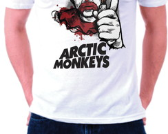 Camiseta Branca Arctic Monkeys