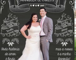 Backdrop Chalkboard Casamento - ARTE DIGITAL