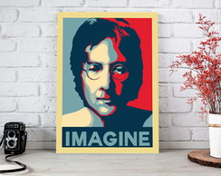 Placa decorativa Poster Obama - Imagine