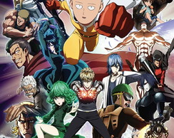 Big Poster do Anime One Punch Man - Tamanho 90x60 cm - LO029