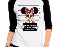 ... Camiseta Raglan 3 4 Thug Life Minnie Preso 4a1ff1097f0