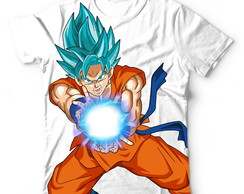 Camisa Camiseta Blusa Goku SSJ Blue Dragon Ball Super