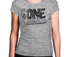 Camiseta Feminina Cinza Mescla One Direction Pimenta
