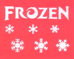 Stencil Flocos Frozen - ART 8051