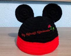... Gorro Infantil de Crochê Mickey ou Minnie Mouse dc65b1d97a5