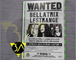 Quadro Harry Potter - Wanted Bellatrix