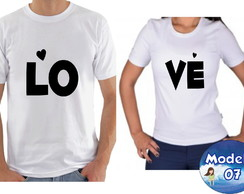 d067e8cdbb03e ... Kit camiseta personalizadas namorados casal c/2 Love