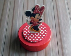 Aplique 3D da Minnie Vermelha para latinhas Mint to Be