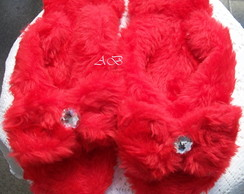 Chinelufas Pelucia Red