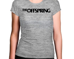 Camiseta Feminina Cinza Mescla The Offspring Banda de Rock
