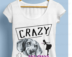 Camisete Crazy Dachshund Mom