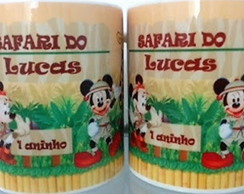 Caneca Personalizada Safari do Mickey