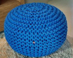 Puff Maxi Tricot (Croche) Azul Royal