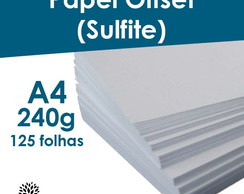 Papel Off Set 240g 125 Folhas No A4