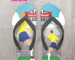 ... Chinelo Copa do Mundo Jogadores da Seleção b4110bbd860c1