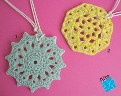 Colares crochet no Biscuit