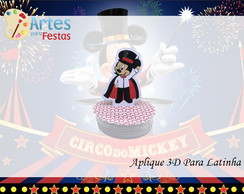 Tag 3D para Latinha - O Circo do Mickey